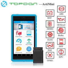 TOPDON ArtiMini Auto Diagnostic TooL Software Automotive All System OBDII OBD2 Bluetooth Scanner WiFi Full Function pk X431 Pros 2017 newest vxdiag vcx nano scanner for land rover and jaguar 2 in 1 with software ssd v145 updatable wifi diagnostic tool