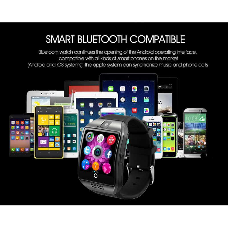 Smart Uhr Männer Q18 Mit Touchscreen Große Batterie Anti-verloren Remote Kamera Für Android Telefon Smartwatch