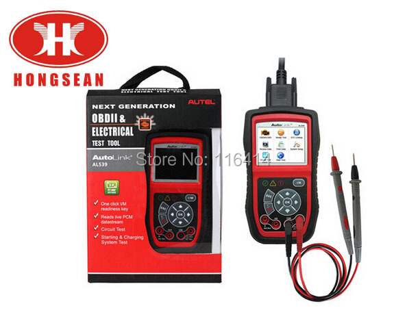 LATEST Autel AutoLink AL539B OBD Code Reader & Electrical and Battery Test Tester Auto Dianostic Tool  Free Shipping