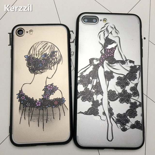 Kerzzil 3d Relief Lace Mandala Rose Henna Flowers Case Cover For