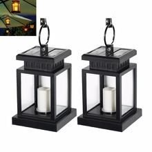 2pcs/lot Outdoor Solar Candle Lantern Landscape Umbrella Tree LED Solar Light for Pavilion Garden Yard Lawn Camping Decoration