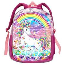Todders Cartoon Kindergarten School Bag Orthopedic for Teenage Girls Cute Unicorn Backpack Children Bookbag