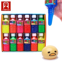 6 Colors 12 Bottles Magic Slime Practical Joke Trick Toys Fun Crystal Mud Novelty Prank Toy