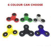 New 6 Colour Luminous Effect Tri Spinner Fidget Toy Plastic EDC Hand Spinner For Autism Reliever