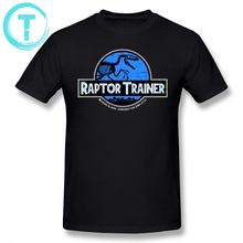 Jurassic Park T Shirt World Raptor Trainer T-Shirt Classic Mens Tee Short Sleeves Funny Cotton Graphic Big Tshirt