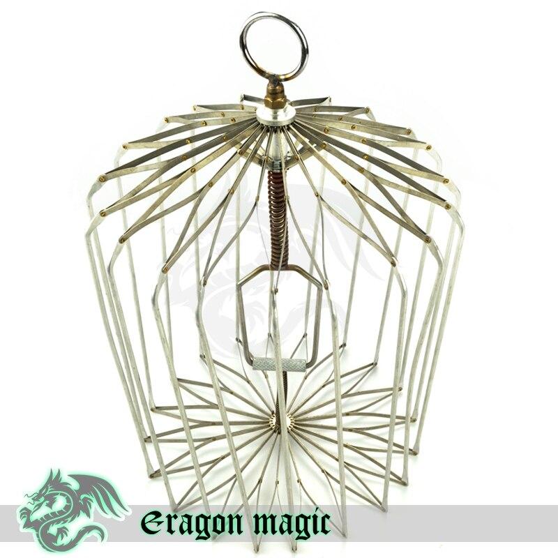 Colombe Cage scène tours de Magie Magia astuce jouet Magie professionnelle argent taille régulière