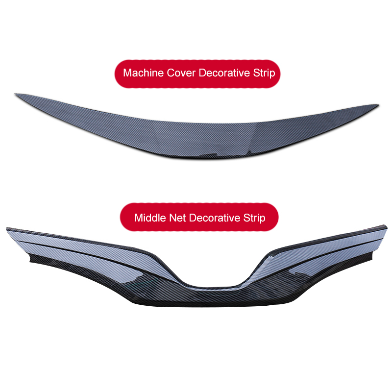 QHCP ABS Carbon Fiber Style Car Front Lower Logo Grille Trim Hood Cover Front Engine Hood Decoration Strip For Toyota Camry 2018 цена 2017