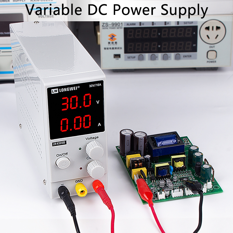DC Power Supply LED Digital Switching Voltage Regulators Lab Repair Tool Adjustable LW K3010D 110/220V Power Source 30V 10A/5A3A