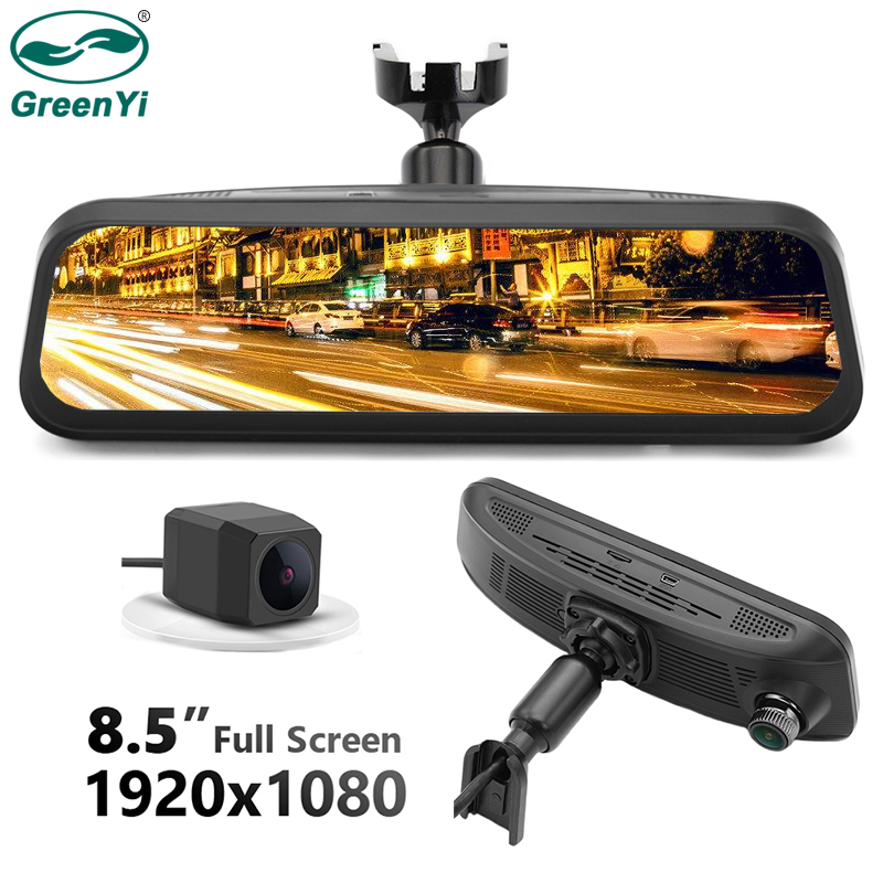 Greenyi Car DVR Rear-View-Mirror-Monitor Gesture-Sensor 1080P Touch Special HD Full-Screen-Display