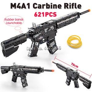Image 4 - Cada la técnica de bloques de construcción pistola de juguete para niños, modelo de pistola de juguete, 98k, piezas, juguetes educativos para niños, ww2