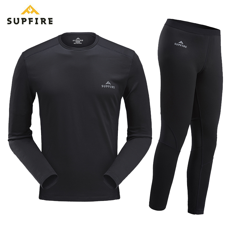 Supfire Winter Thermal Underwear Set Men Anti-microbial Stretch Men's Sports Quick Dry Thermo Underwear Male Warm Long Johns C06