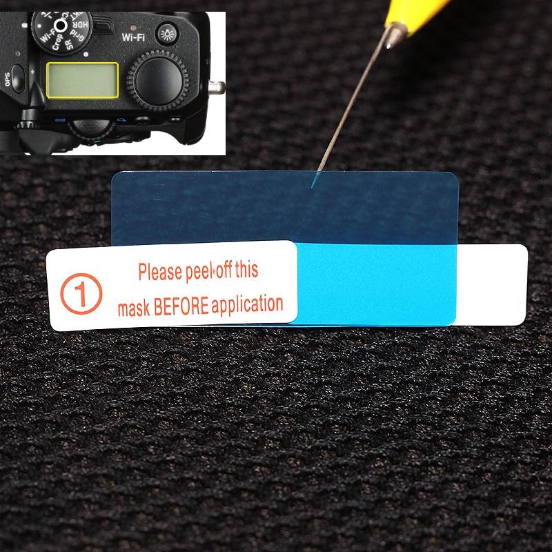 2x Top LCD Panel Protection Film For Pentax K-1 K1 Mark II K-3 K3 K-5 II K5IIs K-5 II S