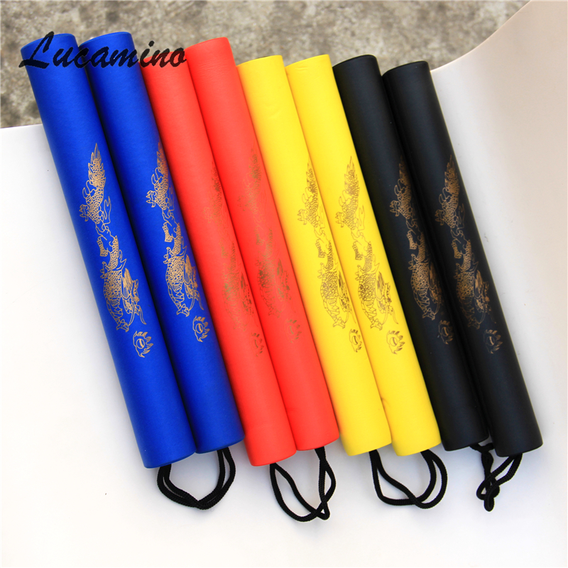 (2pcs/lot) 4C Martial Arts Foam Nunchakus Kids Rope Chains Plastic Nunchaku Child Kung Fu Wushu Nunchucks Trainer For Beginners