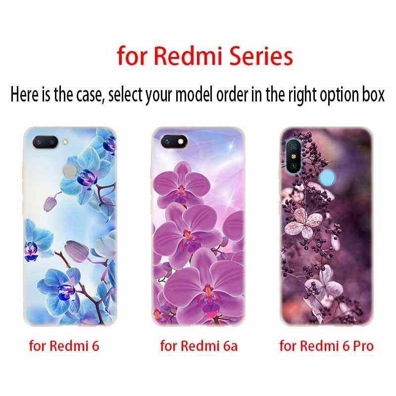 زهور أوركيد الملونة Baseus حالة واضحة ل Xiaomi Redmi 8A 7A 4X 4a 5 زائد 7a 5a S2 6a 6 ملاحظة 8 7 5 K20 برو Fundas لينة عودة