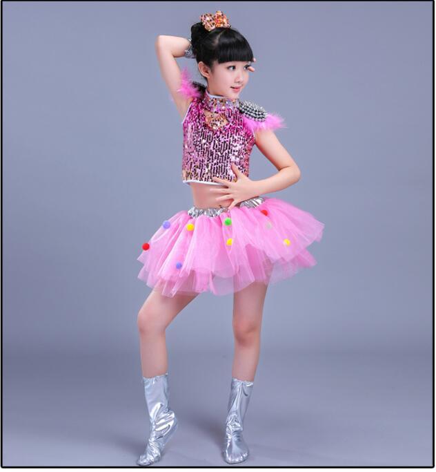 Детская одежда с блестками для бальных танцев, джаз, хип-хоп, сценическая одежда, костюмы для выступлений, одежда, топ, рубашка, шорты, сценическая одежда для мальчиков и девочек, танцевальные костюмы - Цвет: Серебристый
