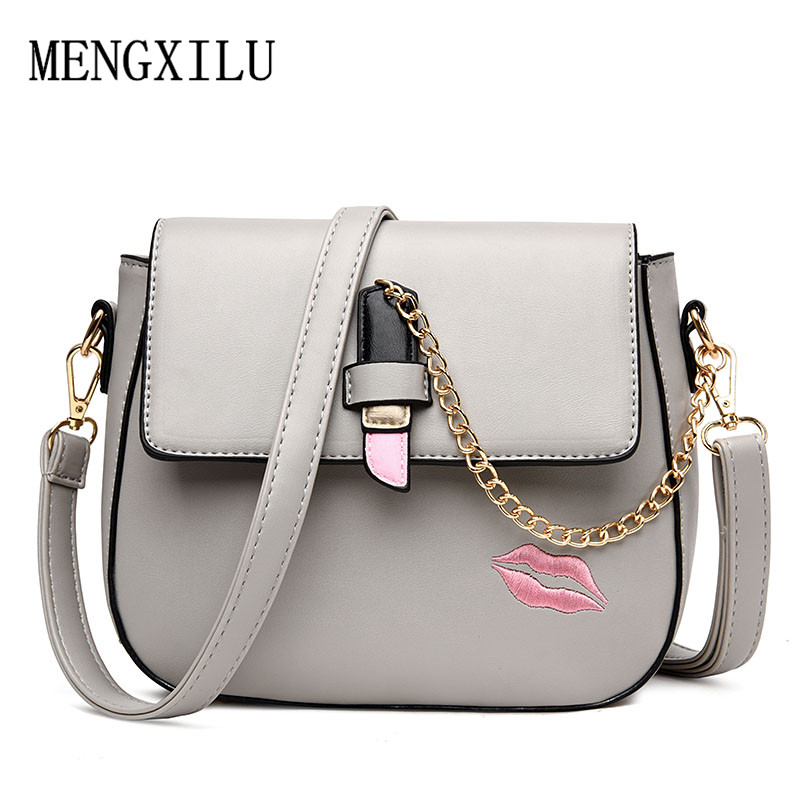 Sweet Kiss Women Crossbody Bag High Quality PU Leather Chains Women Messenger Bags Famous Brand Women Shoulder Bag Sac A Main bailar fashion women shoulder handbags messenger bags button rivets totes high quality pu leather crossbody famous brand bag