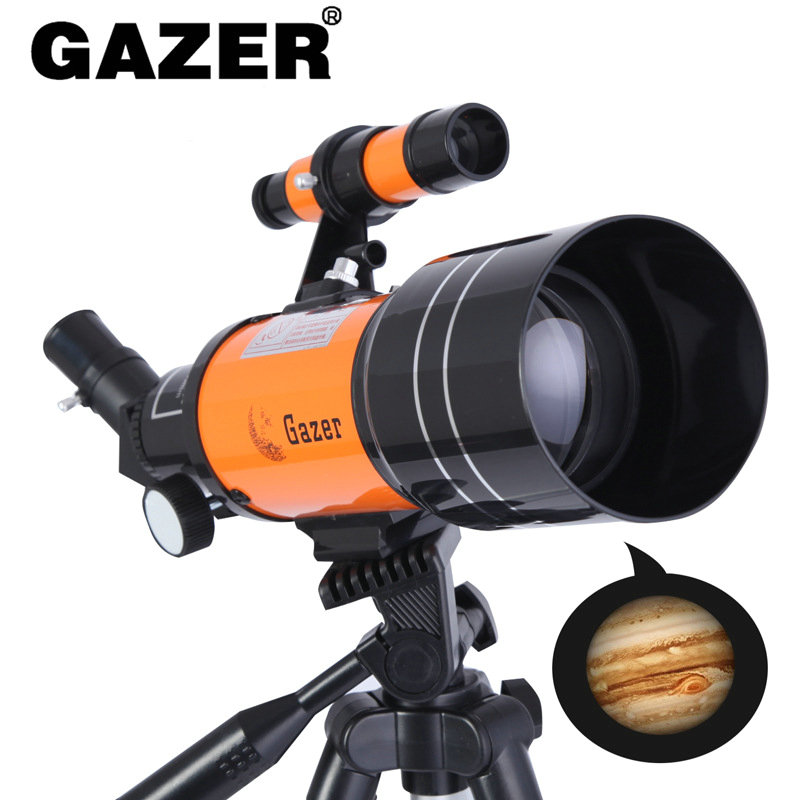70mm Travel Scope Portable Refractor Astronomical Telescope Fully Coated Glass Optics Ideal Astronomical Telescope for Beginners image