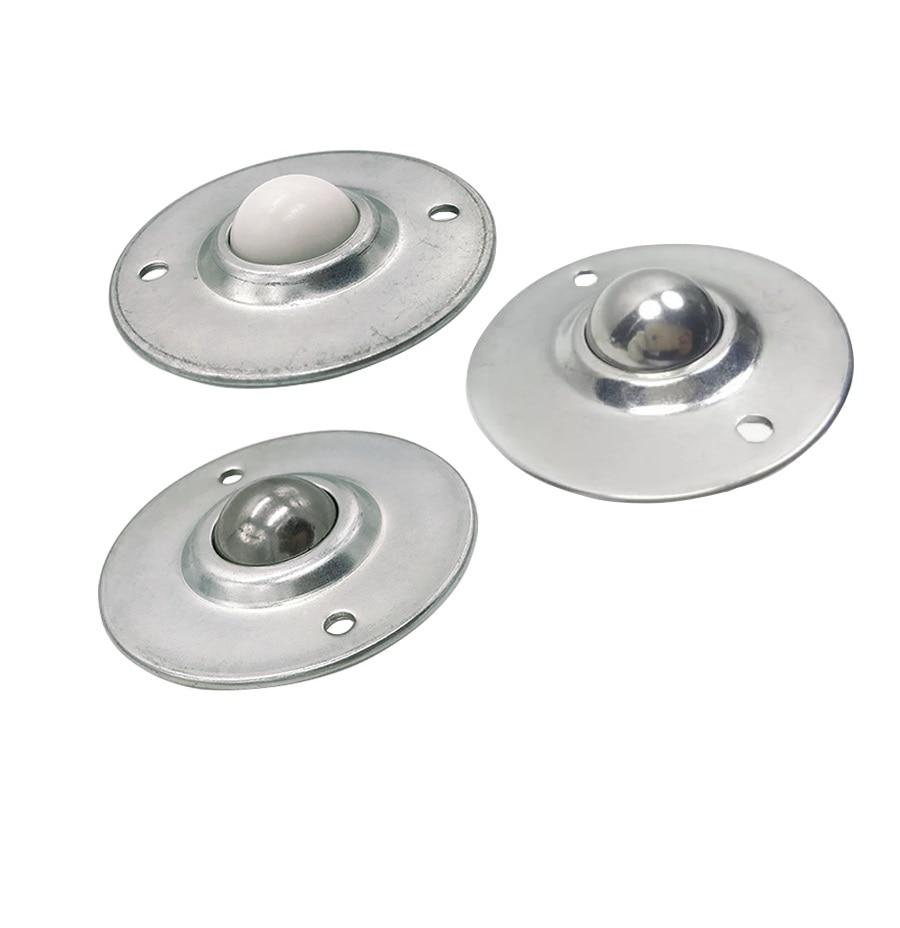 2Pcs/Lot 304 Stainless steel Nylon Ball Caster Roller Ball ...