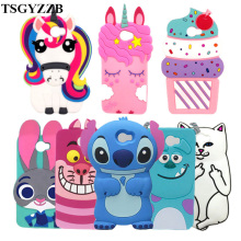 For Huawei Y5 II Case 5.0 3D Cartoon Unicorn Cute Cat Stitch Rubber Silicone Cover Y5II 2 Phone Cases CUN L21 U29 L01