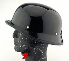 German Style M/L/XL Vintage Motorcycle Cruiser Helmet Half Face Bright Black Car-styling