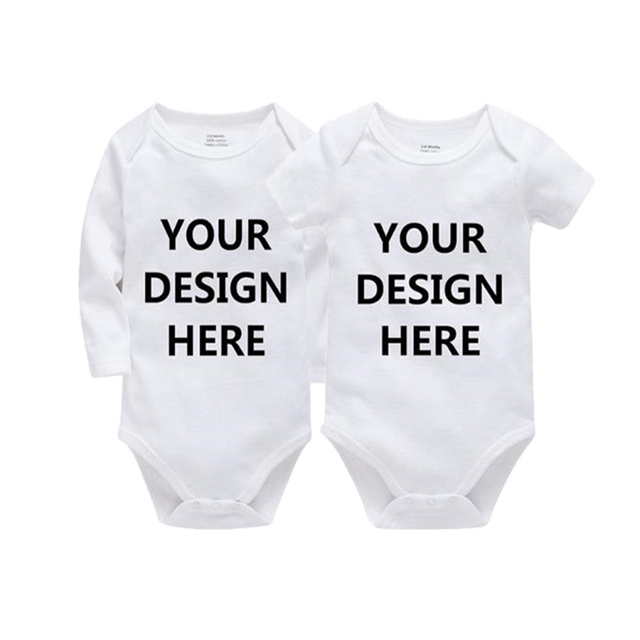2 PCS Newborn Unisex Baby   Rompers   Onesies Custom Personalized Short Sleeve One Pieces Active Jumpsuit Infantil Vestidos Design