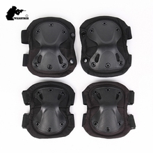 Military Tactical Protective Gear Set Many Colors Hight Quality Thicken Kneepad Elbow Pad Sets Cs Paintball Police Equipment AC1