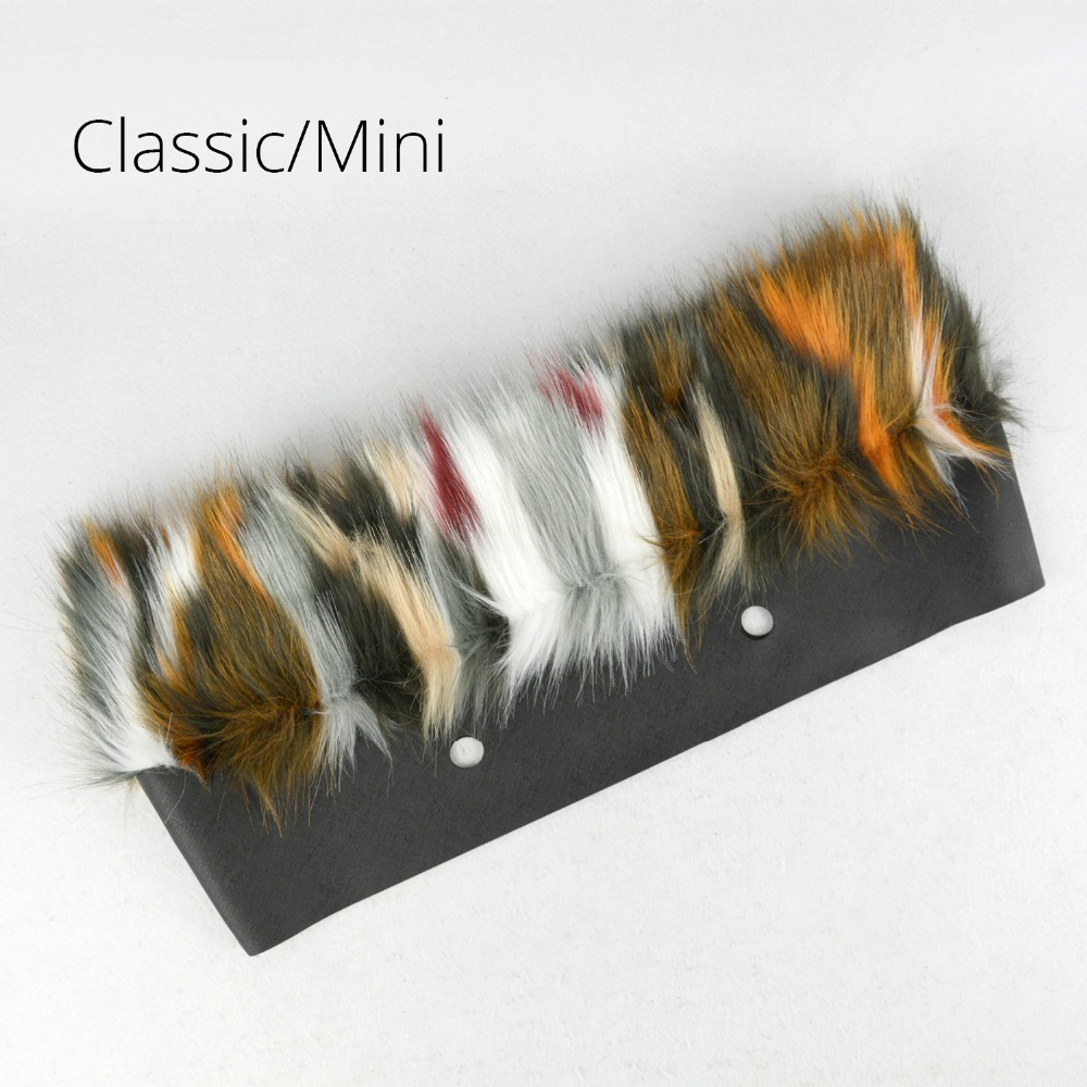 New Mixed Color Faux Fur Women Bag Plush Trim For O BAG Thermal Plush Decoration Fit For Classic Big Mini Obag