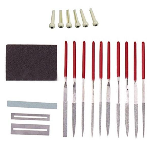 HOT-Guitar Repair Kit Repair Maintenance Tools Guitar Ukelele Bass Care Set Silver