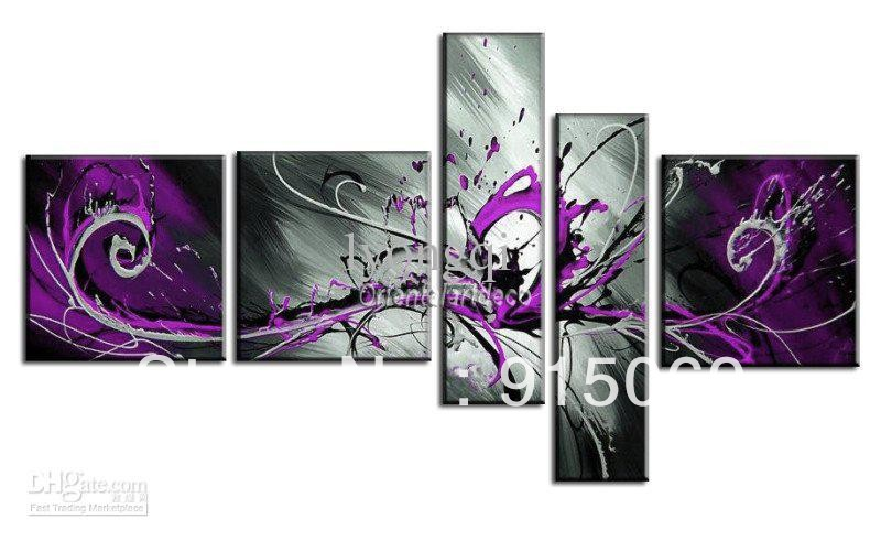 Huge Handmade Purple Black White Abstract Oil Painting On Canvas Modern Art  Wall Paintings Home Decoration Gifts Art Picture A3 In Painting U0026  Calligraphy ...