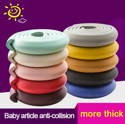 S006 3pcs/set Anti-Collision Corner Protector 2 Meter Baby Kids Safety Edge Cushions Children Table Desk Safety Silicone