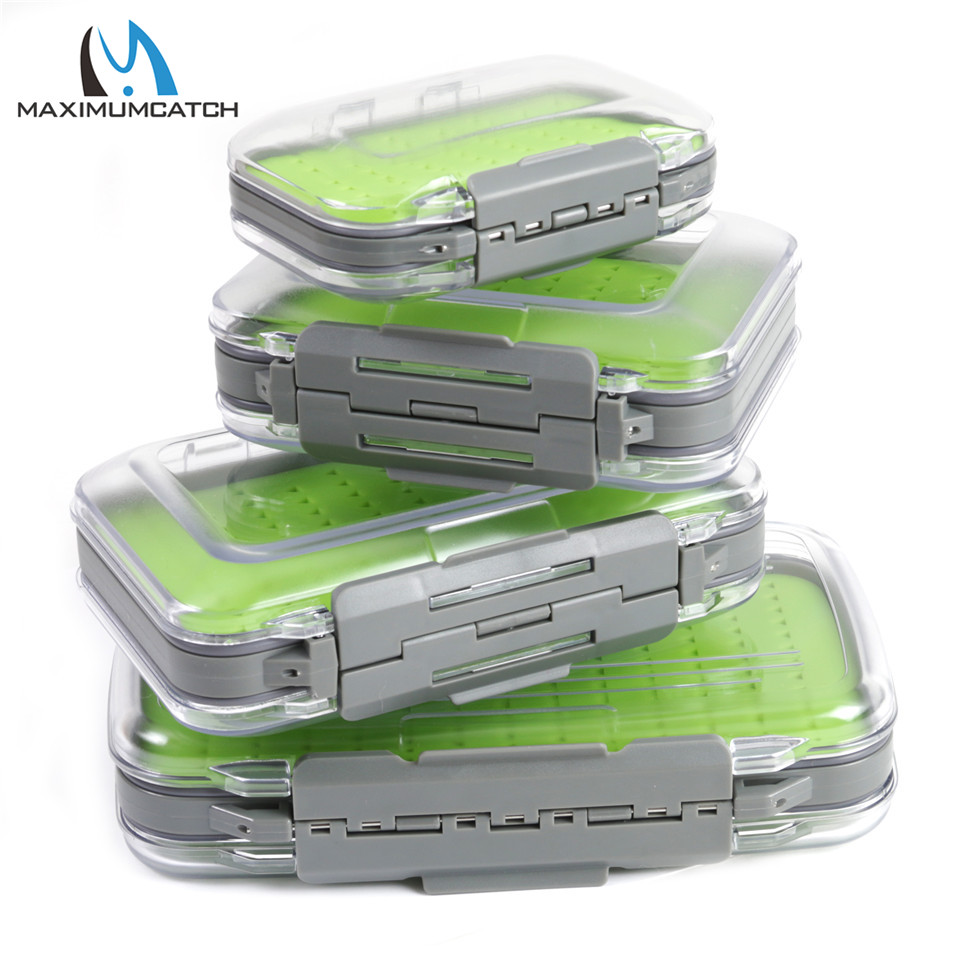 Maximumcatch Fly Fishing Box Easy-grip Silicone Insert Tackle Boxes Double Side Clear Lid Fly Box коробка для мушек snowbee easy vue waterproof fly box medium