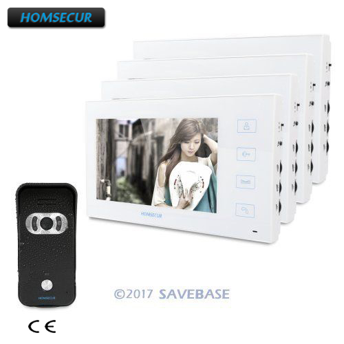 HOMSECUR 7 Video Door Entry Phone Call System with Outstanding Video&Audio Performance 1V4HOMSECUR 7 Video Door Entry Phone Call System with Outstanding Video&Audio Performance 1V4