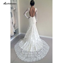lakshmigown Long Sleeves Lace Custom Made Wedding Dresses
