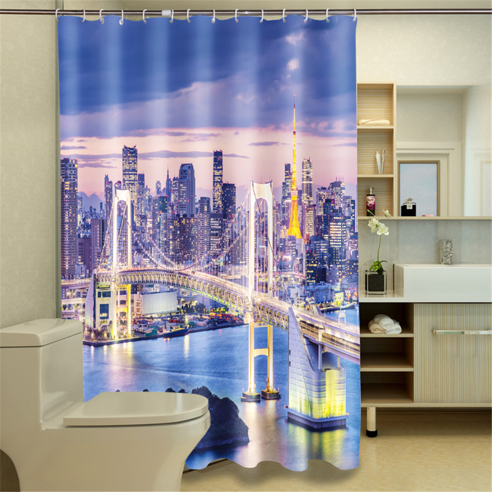 Colorido Lovely conejos cortina de ducha personalizada impresi/ón Digital tela de poli/éster cortina de ducha 183cm*183cm