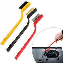 3pc/set Eco-Friendly Toothbrush Iron Wire Copper Nylon Kitchen Cleaning Plastic Handle Portable Teeth Clean Brush