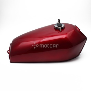 Universal For Honda CG125 CG125S CG250 Red 9L 2.4 Gal Motorcycle Fuel Oil Gas Tank Cafe Racer Vintage With Tap