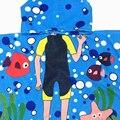 2017 vogue playa toalla 120 cm * 60 cm plaza toalla con capucha para niños niños Baño Playa Envoltura Poncho con Capucha Bata Bebé Un 11