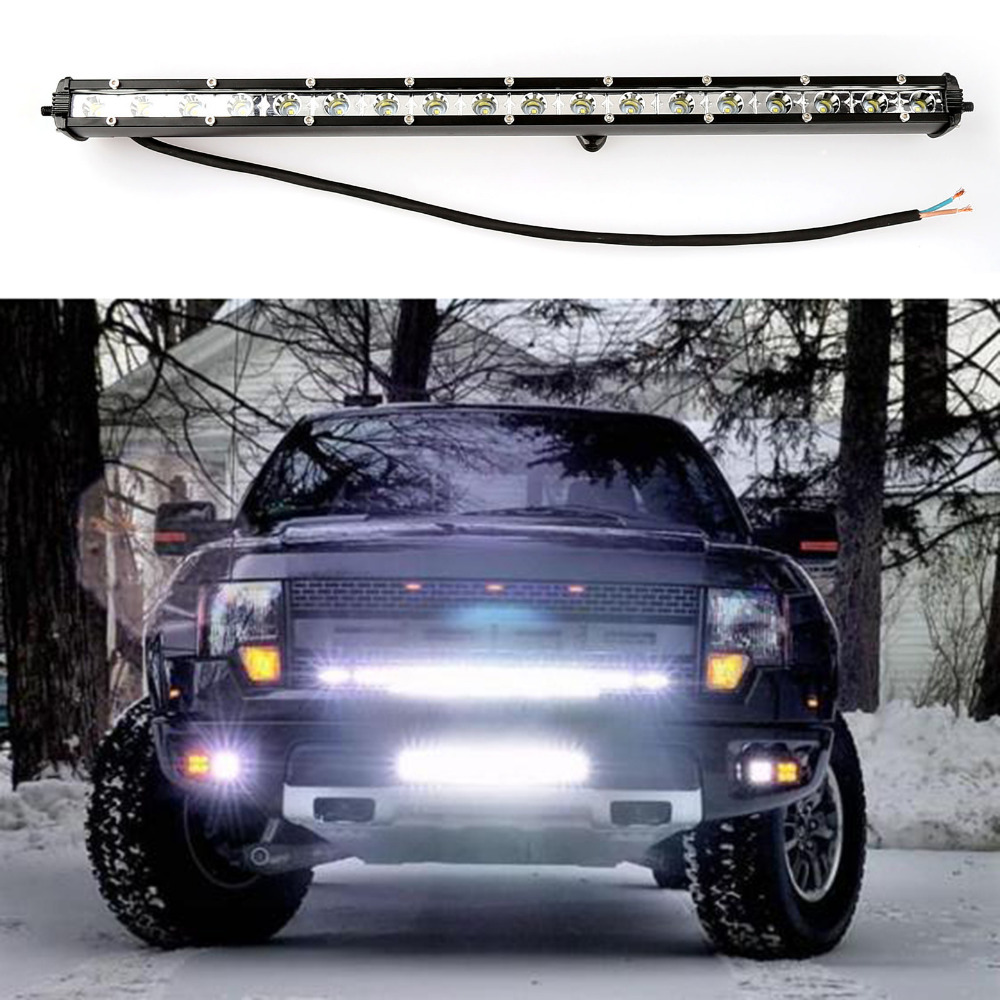 Super Bright 19 Inch 54W 18 LED Light Bar Spot Flood Work Driving Offroad Lamp For SUV JEEP Vehicle Boat 4WD Truck super slim mini white yellow with cree led light bar offroad spot flood combo beam led work light driving lamp for truck suv atv