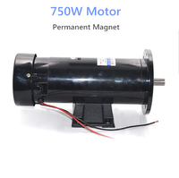 750W Permanent Magnet DC High Speed Motor 220V Speed Regulating High Power Forward and Reverse Motor High Torque Motor