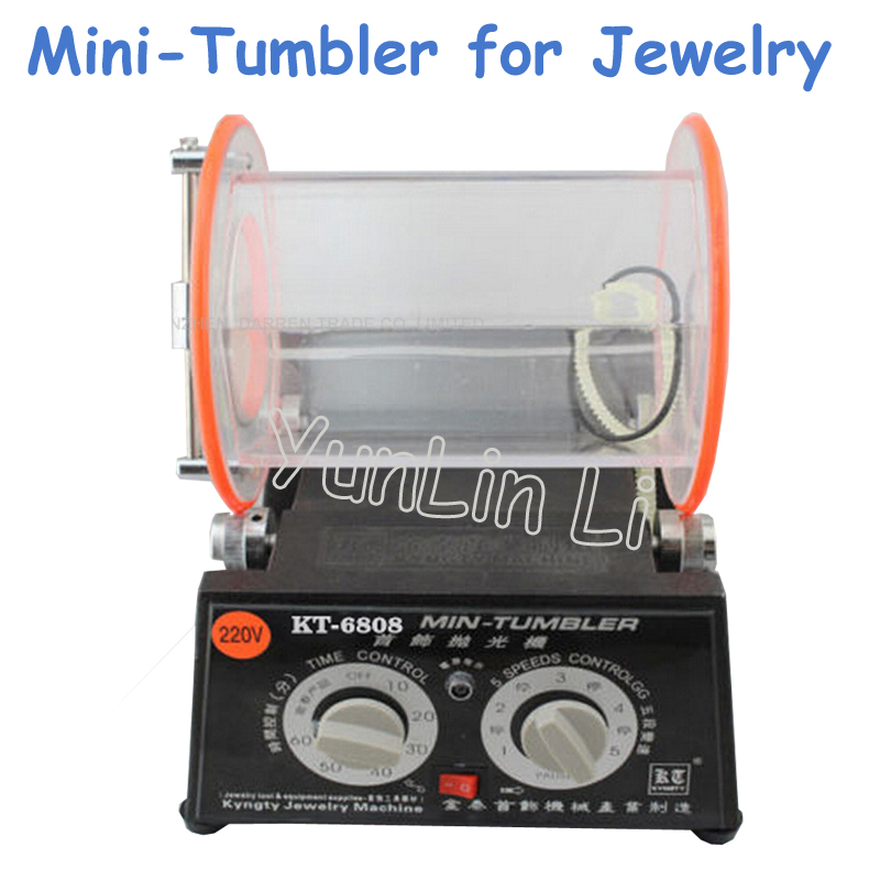 Jewelry Polishing Machine 220/110V Polisher & Finisher Polishing Finishing Machine KT6808-130 1pc white or green polishing paste wax polishing compounds for high lustre finishing on steels hard metals durale quality