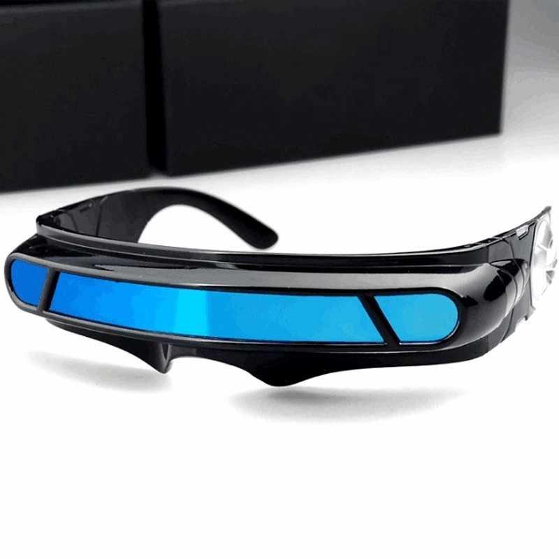 X-men laser cyclops óculos de sol masculino feminino designer especial materiais de memória polarizado viagem uv400 óculos de sol vintage oculos