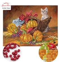 Золотой панно, рукоделие DIY наборы для вышивания крестиком наборы для вышивания кошачий узор Счетный бисер вышивка крестом 0413