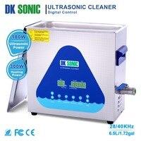 DK sonic ультра sonic Очиститель 6.5L 180 Вт для монет ювелирные очки зуб накладные лезвия отвертки металла Запчасти инжекторы 28 /40 кГц
