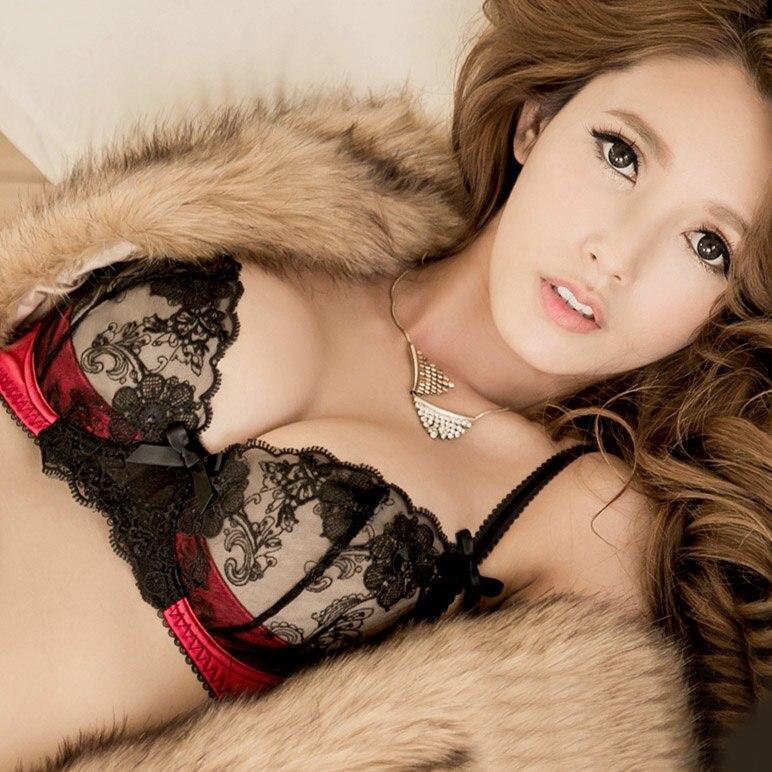 Underwear & Sleepwears Women's Intimates Luxury Summer Deep V Floral Lace Embroidery Semi-sheer Mesh Bra Set/panties/ Lingerie Free Shipping Yw029