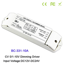 BC-331-6A/BC-331-10A 6A/10A*1CH LED Dimmer fluorescent lamps dimmer 0/1-10v lamp dimming driver push dimmer,DC12-24V