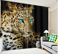 Crianças quarto leopardo luxo blackout 3d janela cortina para sala de estar tamanho personalizado cortinas rideaux cortina