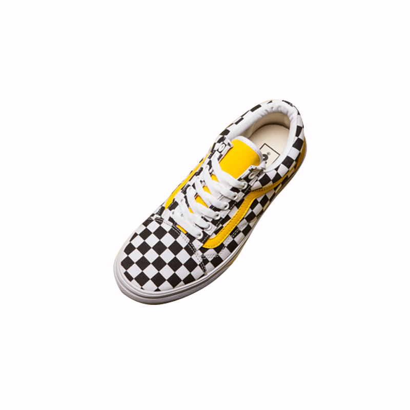 4152465cbb6 Original Vans Men s   Women s Classic Old Skool Low top Classic  Checkerboard Lattices Skateboarding Canvas Shoes VN0A856931U-in  Skateboarding from Sports ...