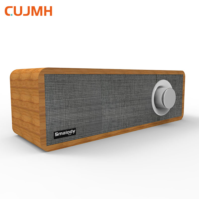 CUJMH Retro Wooden Bluetooth Speaker Mini Portable Outdoor Audio Wireless Bass Stereo Music Player Surround Speakers for Mobile