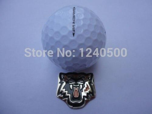 Envío Libre Tigre Amarillo-Golf Marcador de la Bola Más El Sombrero Magnética y Visor de imágenes, 2 pc/lot