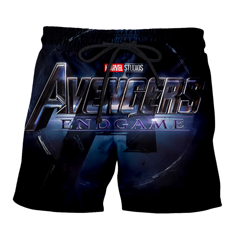 PLstar Cosmos NEW Movie Marvel Avengers Endgame Men's Summer Casual Shorts 3D Print Loose Beach Iron Man Shorts Drop Shipping